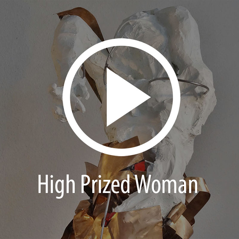 Fré Ilgen, High Prized Woman, stainless steel, bronze, paper clay, paint (VIDEO)